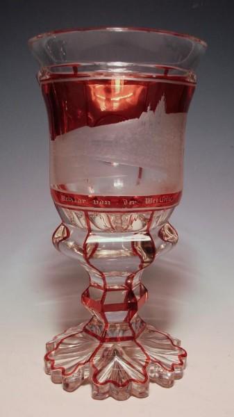 Pokalglas mit Ansicht von Wetzlar, 19.Jh.