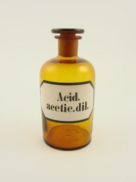 """Alte Apothekenflasche """"ACID. acetic. dil.""""."""