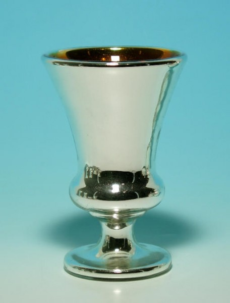 Bauernsilber / Silberglas Pokalglas. Böhmen, 19.Jh.