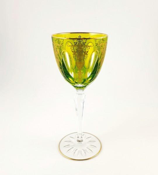 Jugendstil / Art Deco - Römer / Weinglas mit Überfang, um 1920.
