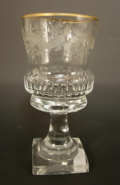 Empire - Wein-, Plinthenglas mit quadratischem Fuß. 18./19.Jh.-Copy