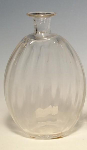 f140 / Flasche, optischgeblasen mit Abriss, 19.Jh.
