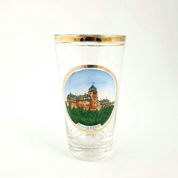 Andenken-, Ansichten-, Becherglas FICHTELBERG / Erzgebirge in Sachsen, um 1900.
