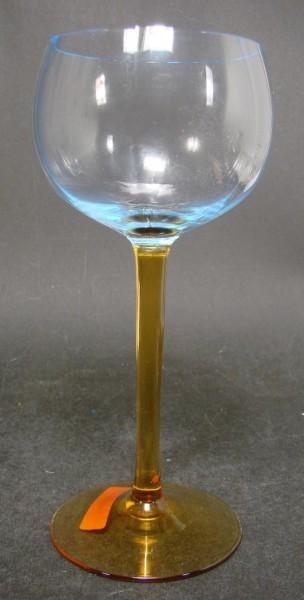 Art Deco - Weinglas, zweifarbig. 1930er Jahre.