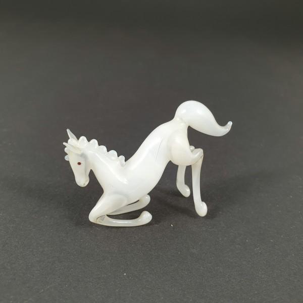 Lauscha - Pferd, vor der Lampe geblasenes Glas.