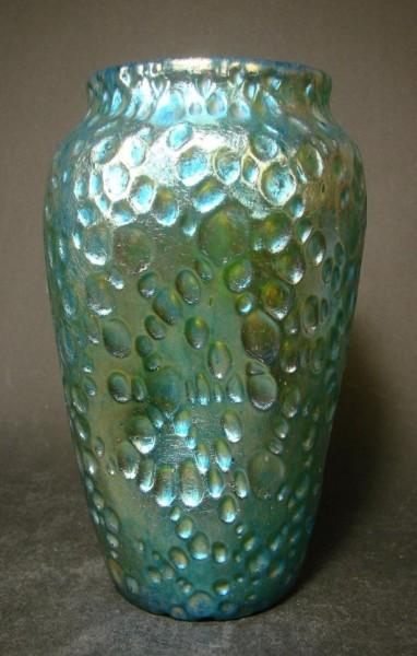 "Jugendstil - Vase ""Candia Diaspora Silberiris"". Loetz Wwe., Klostermühle 1902."