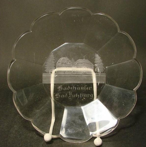 Ansichten-, Glasteller BAD REHBURG, 19.Jh.