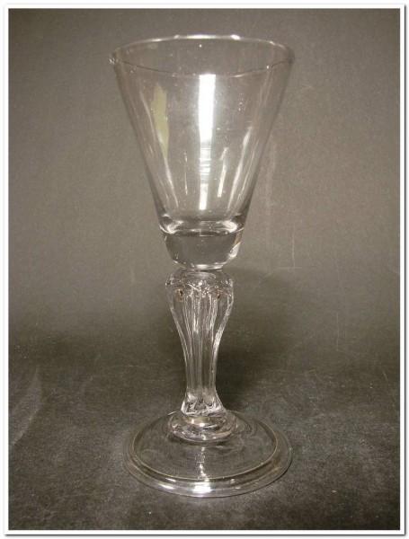 Barock - Weinglas mit Abriss, um 1800.