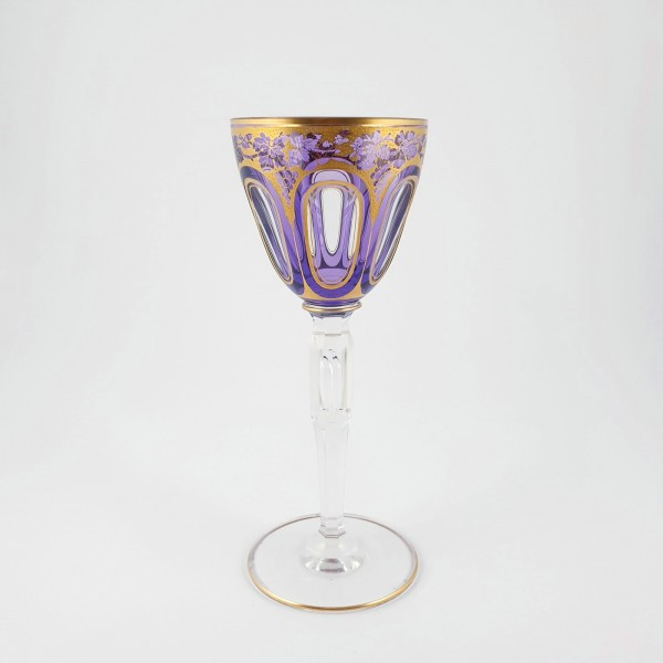 Jugendstil - Weinglas THULA. A. Pfohl, Josephinenhütte, um 1919.