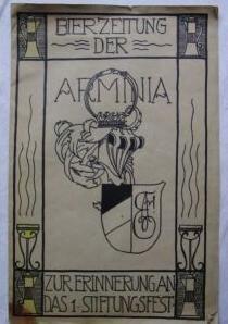 Studentika - Bierzeitung der ARMINIA 1. Stiftungsfest