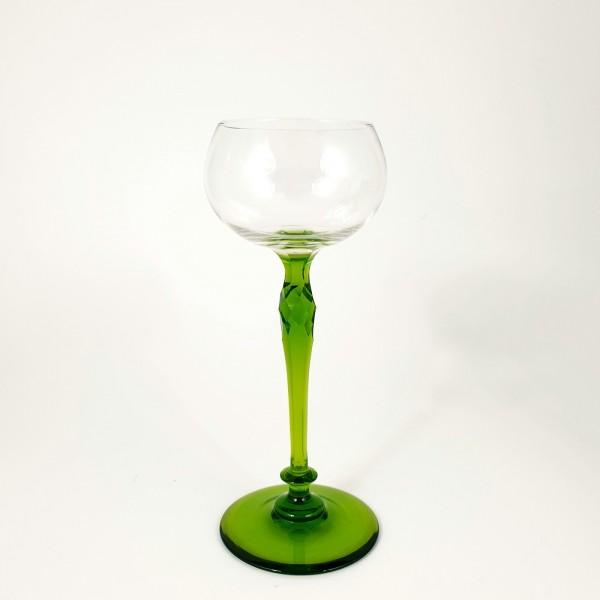 Jugendstil - Weinglas, um 1900.