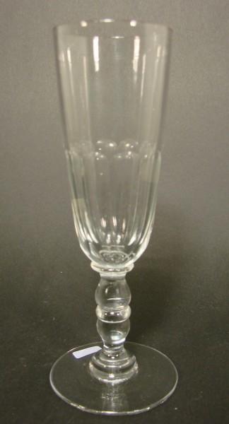 Sektglas mit Schälschliff. Frankreich, Ende 19.Jh.