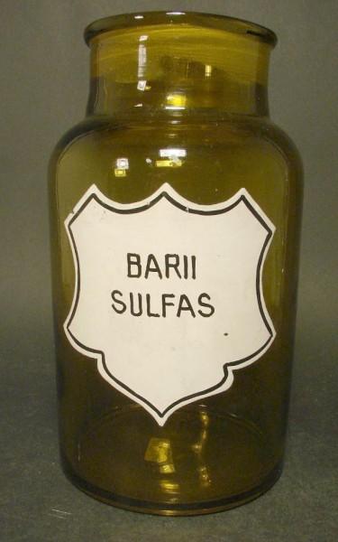 Apothekenflasche BARII SULFAS.
