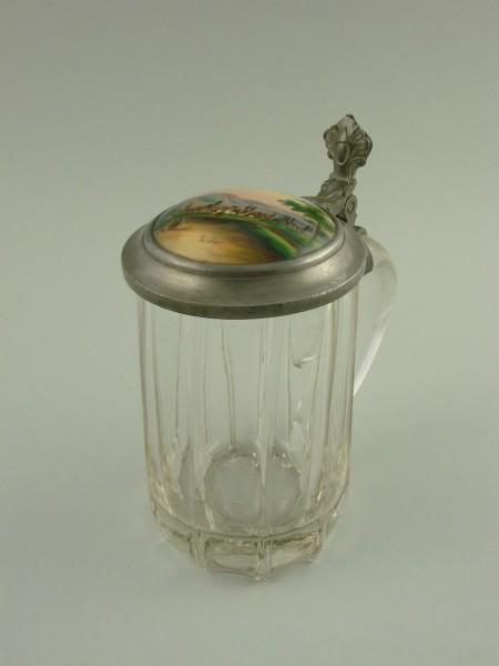 Biedermeier - GOSLAR Andenken-, Ansichtenbierkrug, um 1840.