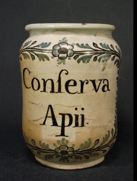Apothekengefäss Conserva Apii., um 1800.