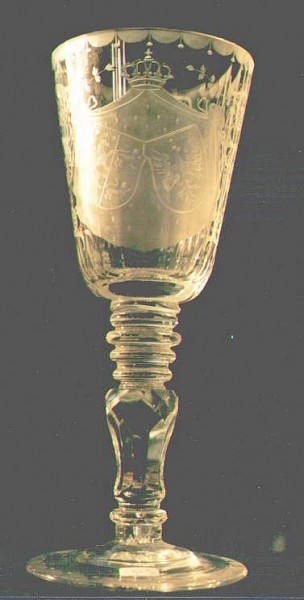 Wappenpokal, wohl Meyr´s Neffe um 1880.