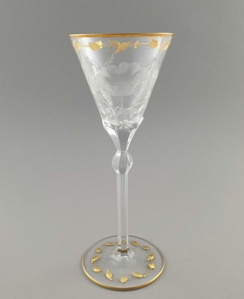 Jugendstil - Weinglas ROSE. L. Moser & Söhne, 1902.