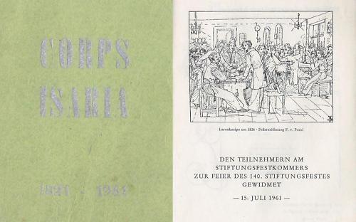 Studentika - Stiftungskommers Corps Isaria München zur Feier des 140. Stiftungsfestes 1961