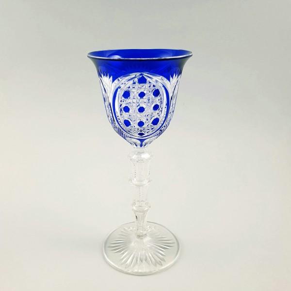 Jugendstil - Römer / Weinglas mit Überfang, wohl Baccarat oder St. Louis.