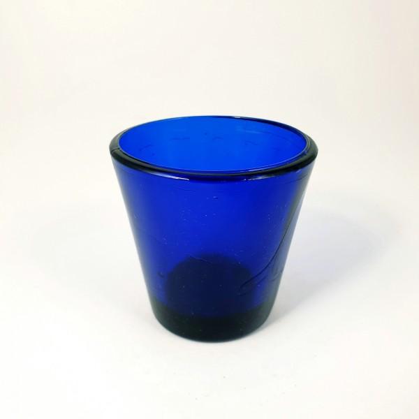 Öllampe, kobaltblau. Frankreich, 19.Jh.