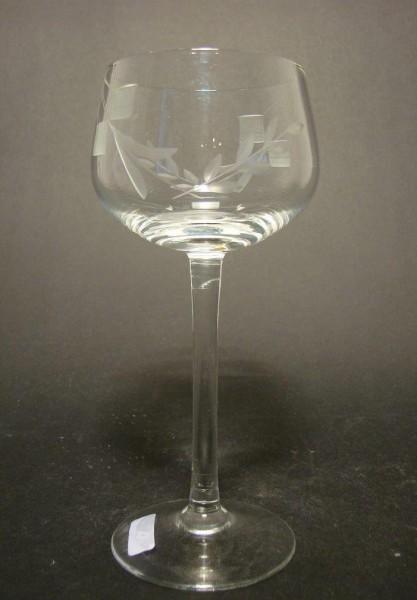 Art Deco - Weinglas mit Schliffdekor, um 1930.