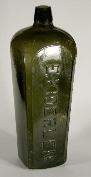 f016 / Alte Gin Flasche KIDERLEN.