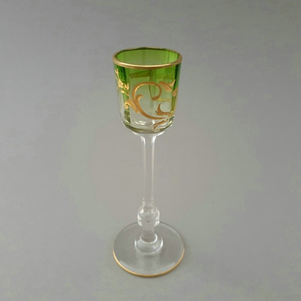 Jugendstil - Likörglas, wohl Moser um 1900.