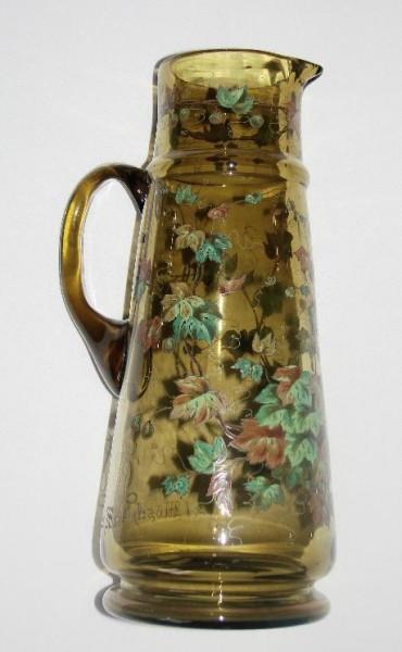 Studentika - Bierkanne, wunderschön bemalt. Widmung, datiert 1902
