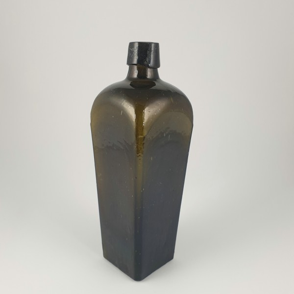 Genever Flasche, olivgrün. 19.Jh.