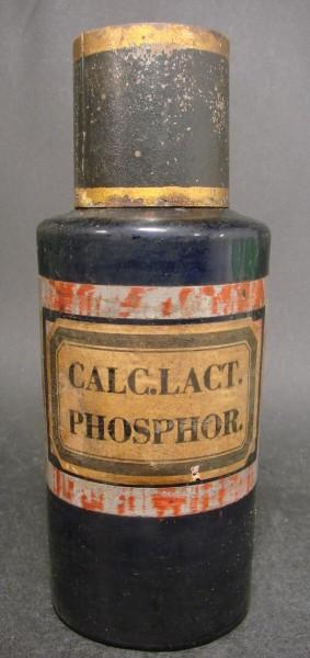 Apothekenflasche CALC.LACT.PHOSPHOR. Frankreich, 19.Jh.