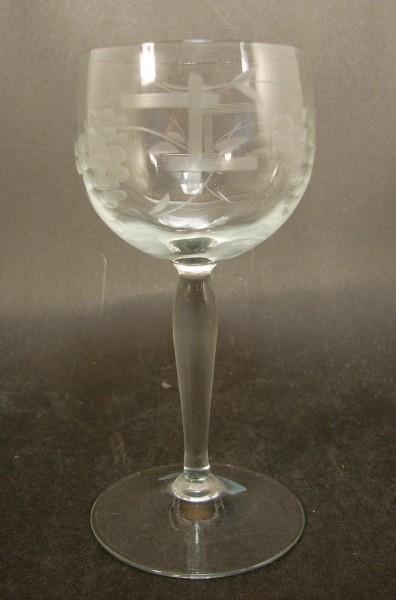 Weinglas RHEIN mit Schliffdekor, Mitte 20.Jh.
