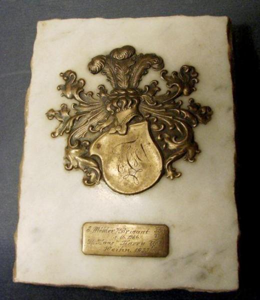 Studentika - Paperweight / Briefbeschwerer HOHENBADEN, datiert 1933