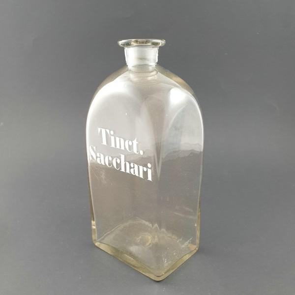 """Apothekenflasche """"Tinct. Sacchari"""", 19.Jh."""