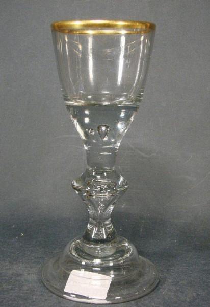 Barock - Kelchglas mit Goldrand. Lauenstein, um 1770.