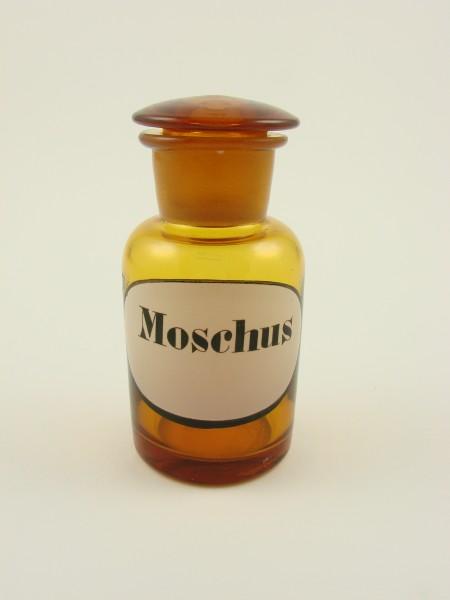 Apothekenflasche MOSCHUS, 19.Jh.