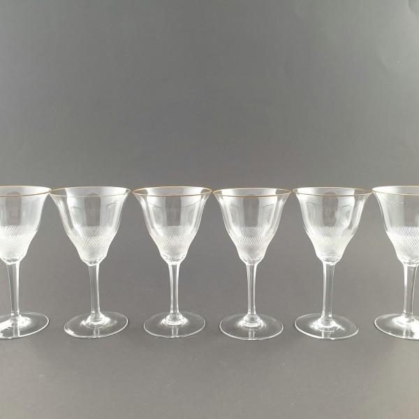 6 Weingläser der Serie LLOYD, von Moser 1922.