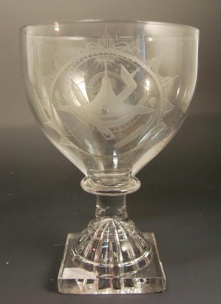 Freimaurer - seltenes Logenglas. England, 18 Jh.