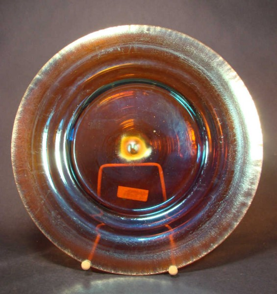 Großer Glasteller MYRA Kristall. WMF / Geislingen, um 1930.