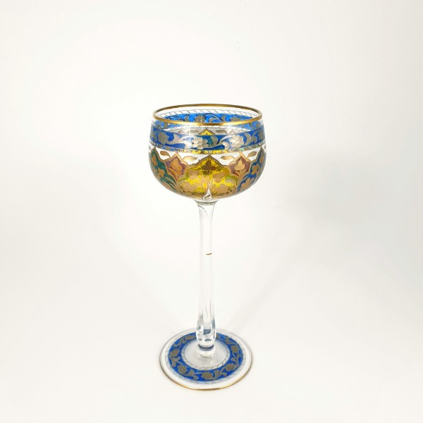 Jugendstil - Weinglas JODPHUR. Heckert /Josephinenhütte, um 1912.