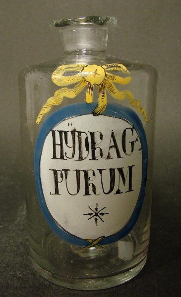 Apothekenflasche HYDRAG: PURUM, 18.Jh.