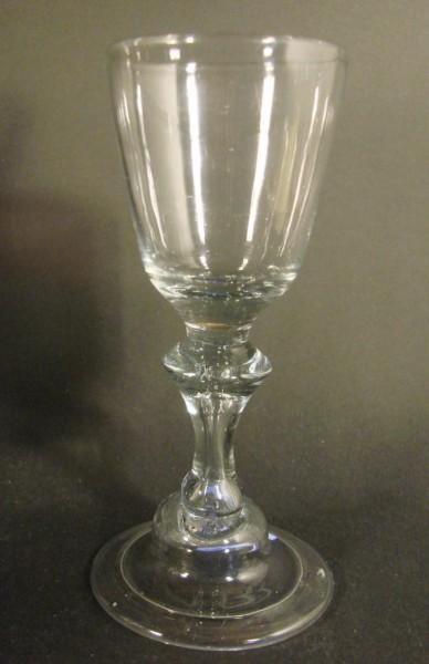 Barock - Weinglas mit Abriss. Norddeutsch, 18.Jh.