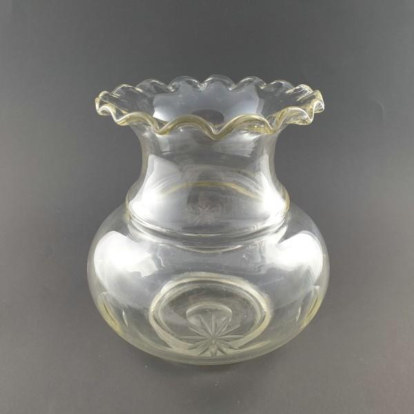 Goldfischglas / Vase mit Schliff, um 1900