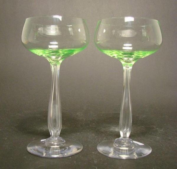 Jugendstil - Uran-, Weinglas MARSCHNER. Villeroy&Boch, 1920er Jahre.