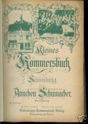 Studentika - Kommersbuch v. Ännchen Schuhmacher