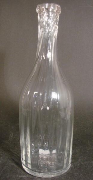 Flasche, längsoptisch mit Abriss, 19.Jh.