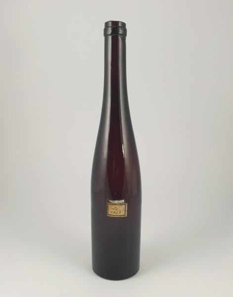 Weinflasche, braun. 19.Jh.