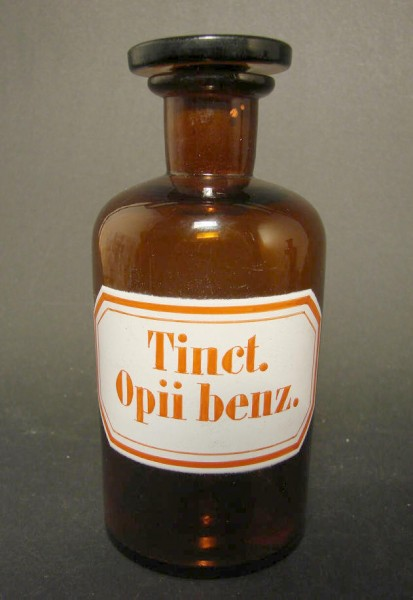 Apothekenflasche Tinct. Opii benz.