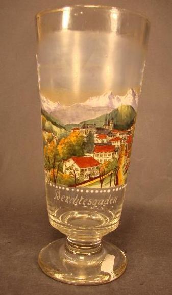 Andenken-, Bockbierglas BERCHTESGADEN, um 1900.
