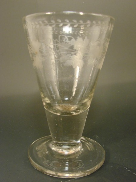 Barock - Weinglas. Weserbergland, um 1800.