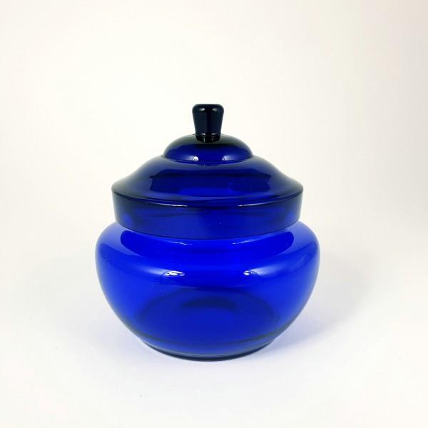 Deckeldose, kobaltblau. 1920er Jahre.